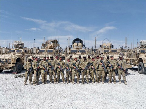 The 59th Quartermaster Company, 142nd Combat Sustainment Support Battalion, 101st Sustainment Brigade, has put in a lot of miles in short period of time. Their convoy teams ran the equivalent of 22 coast-to-coast drives since May. (Courtesy Photo)