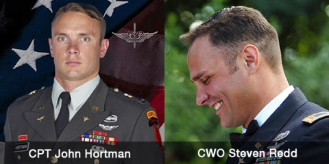 Capt. John D. Hortman and Chief Warrant Officer 3 Steven B. Redd died in a helicpoter training accident on August 8th.