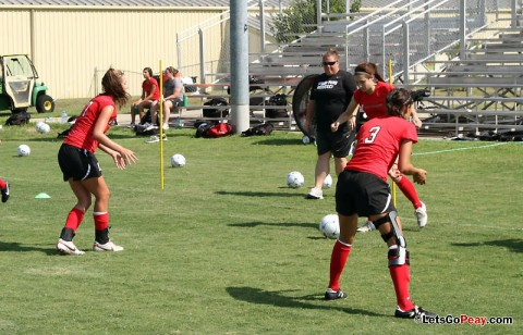APSU Lady Govs Soccer at practice. (Courtesy: Austin Peay Sports Information)