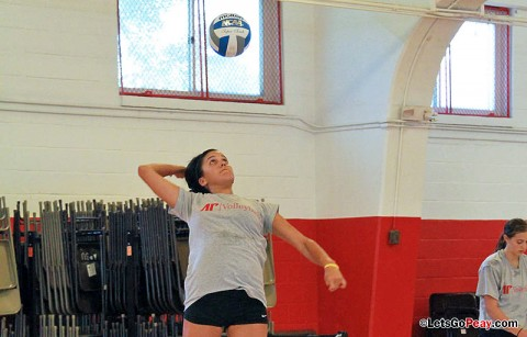 Senior Ilyanna Hernandez takes part in the Lady Govs Tuesday afternoon practice at The Red Barn. (Courtesy: Mateen Sidiq/Austin Peay)