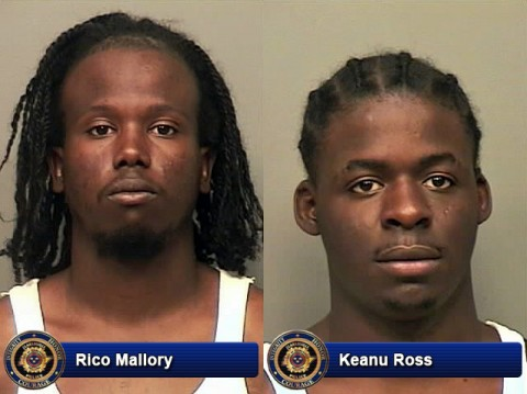Rico Mallory and Keanu Ross picked up for carjacking and vehicle Burglary.