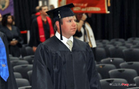 Brian Balthrop, of the men's golf team, was one of 18 current student-athletes to graduate during Friday's ceremony. (Courtesy: Austin Peay Sports Information)