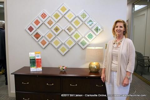 Martha Elliott with Martha Elliott Interiors handled the interior design of the new branch