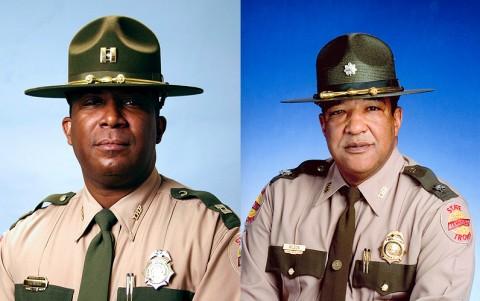 (L to R) Major Dereck Stewart and Lt. Colonel Danny Wilson.