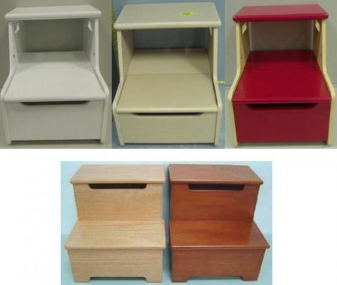 Recalled wooden step stools.