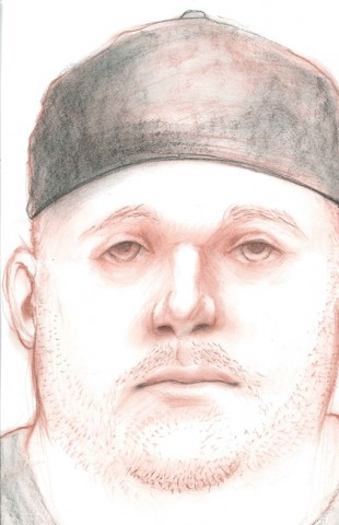 A composite drawing of the Wal-Mart attempted kidnapping suspect.