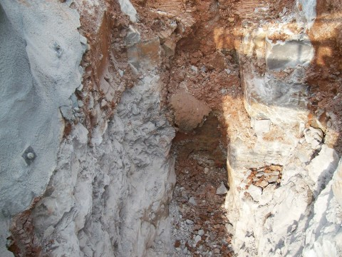 A view of the excavation
