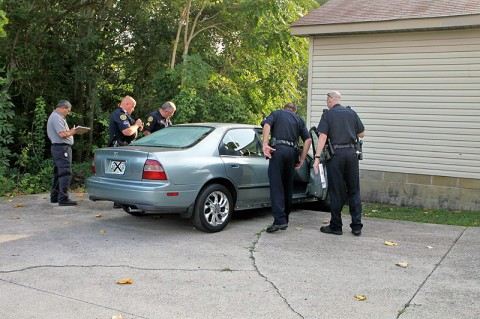Processing the vehicle. (Photo by Jim Knoll-CPD)