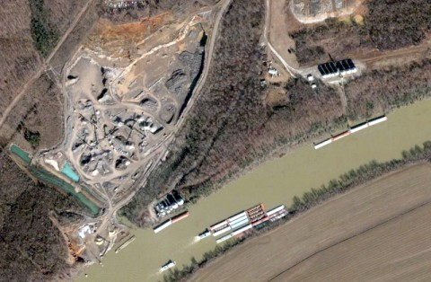 The Winn Materials site (Google Earth)