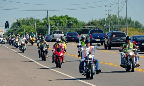 Soldiers of 2nd Battalion, 502nd Infantry Regiment, 2nd Brigade Combat Team, 101st Airborne Division (Air Assault), fill Highway 41-A during its 'Ride for the Fallen' starting in Clarksville, TN, August 26th. The event combined a motorcycle safety class with a ride to Nashville, TN, in remembrance of their fallen Soldiers from Operation Enduring Freedom 2010-2011. (U.S. Army Photo By Spc. Shawn Denham, PAO)