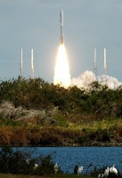 An Atlas V Rocket launching from Cape Canaveral Air Force Station in Florida