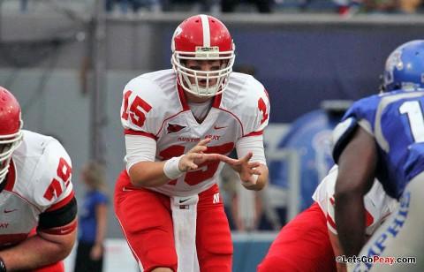 Junior quarterback Jake Ryan threw for a career-best 245 yards against Memphis. APSU Football. (Courtesy: Mateen Sidiq/Austin Peay)