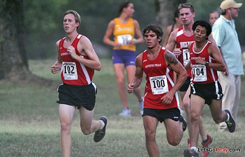 Rested Govs return to competition for the 2011 Greater Louisville Cross Country Classic. APSU Men's Cross Country. (Courtesy: Keith Dorris/Dorris Photography)