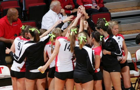Austin Peay pushed Missouri in a three-set loss, Friday, in the MT Blue Raider Bash. (Courtesy: Keith Dorris/Dorris Photography)