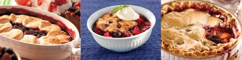 (L to R) Country Berry Cobbler, Berry Good Cobber and Peach Berry Cobbler.