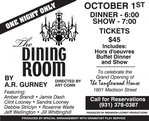 """""""The Dining Room"""" opens for one night only"""