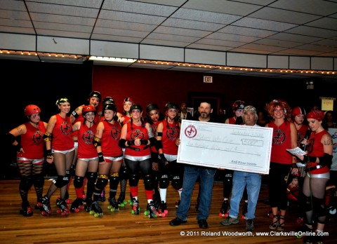 Red River Sirens Donate $500.00 To The Bikers Who Care