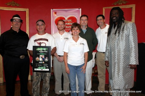 Hank Bonecutter and members of Radical Mission with Eric Hunter, Big John Richardson, and Gary Dull