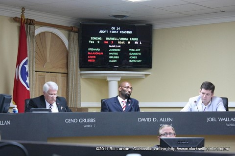 The barge port rezoning ordinance passes on first reading
