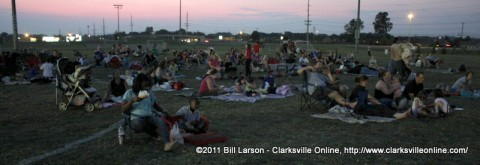 Families at last weekends Movies in the Park Twilight double feature