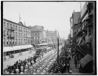 Labor Day parade, Main Street, Buffalo, NY, ca. 1900. (Library of Congress)
