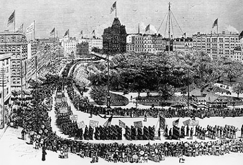 Labor Day in New York in 1882