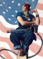 Norman Rockwell's Rosie the Riveter (Saturday Evening Post / Photography by Dwight Primiano)
