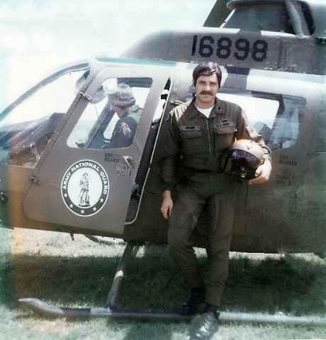 Roy Brown, now a chief warrant officer 5, poses in front of his helicopter in the 1970s. Brown joined in the Army in 1971 as a Cobra pilot, and he has since been certified on 11 different aircraft models. Today, he is serving the C27J Spartan liasion officer for Task Force Thunder (159th Combat Aviation Brigade) in Afghanistan.