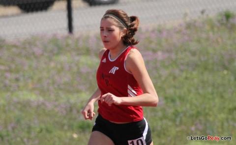 Sophomore Xiamar Richards won the women's five-kilometer race at UAH, Saturday morning. (Courtesy: Austin Peay Sports Information)