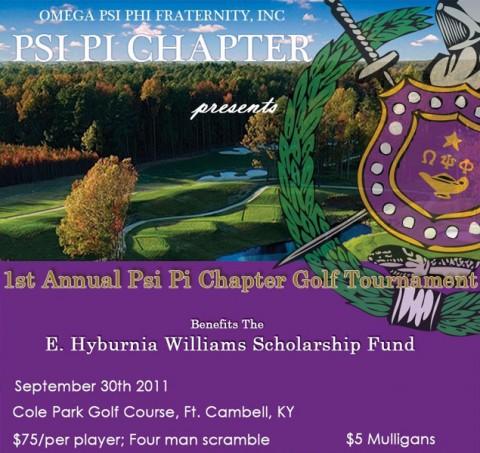1st Annual Psi Pi Chapter Golf Tournament