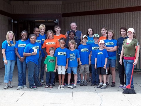 Grace Community Church's Operation SERVE program who lent a helping hand to the Kleeman Community Center
