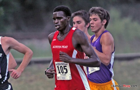 Senior Boniface Yator finished 30th to pace the Govenors at the OVC Cross Country Championships, Saturday, at Eastern Kentucky. APSU Cross Country. (Courtesy: Keith Dorris/Dorris Photography)