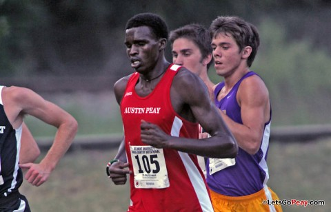 Senior Boniface Yator finished 48th at the Greater Louisville Cross Country Classic, Saturday. APSU Cross Country. (Courtesy: Keith Dorris/Dorris Photography)