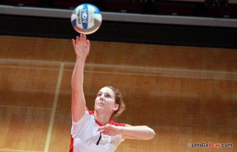 Freshman setter Cami Fields ranks second among OVC setters in assists per set (11.11) in league play this season. Austin Peay travels to SIU Edwardsville and Eastern Illinois this weekend. (Mateen Sidiq/Austin Peay State University)