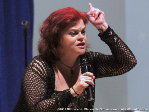 Christy Eidson performing at Magic at the Museum