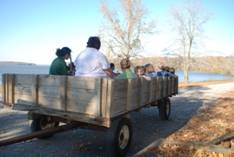 Old-fashioned wagon ride