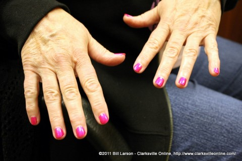 Bright Pink Nails in honor of National Breast Cancer Awareness Month