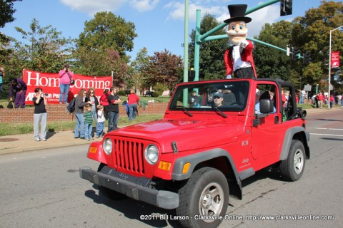 The APSU Governor during the 2011 Austin Peay State University Homecoming Parade