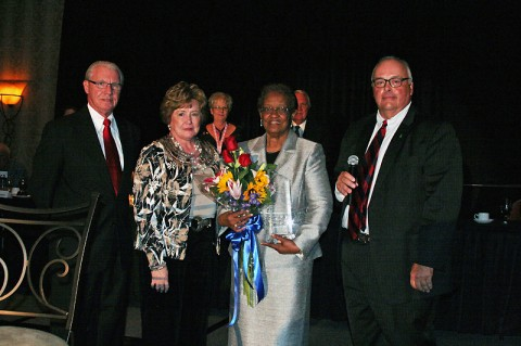 Pictured are left to right: Bob Wormsley, Mayor Carolyn Bowers, Lettie Kendall and Kevin Huffman, Gibson County Mayor.
