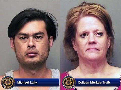 Michael Lally and Colleen Merkes-Treib.
