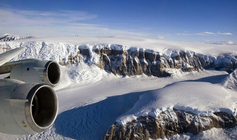 NASA's Operation IceBridge mission comprises the largest airborne research campaign ever flown over Earth's polar region. The mission is designed to continue critical ice sheet measurements in a period between active satellite missions and help scientists understand how much the major ice sheets of Greenland and Antarctica could contribute to sea level rise. (Credit: Michael Studinger/NASA)
