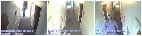 Photos of the person of interest in the Robbery of The Wine Cellar.