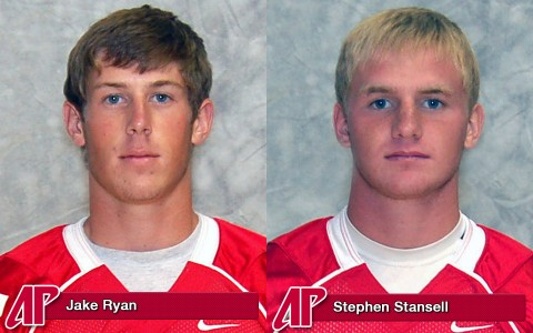 Jake Ryan and Stephen Stansell earn OVC honors