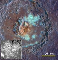 Another example of hollows in Tyagaraja, a crater 97 km in diameter. (Courtesy of Science/AAAS)