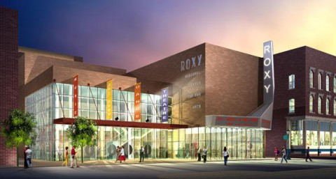 An artist drawing of the planned new Roxy Center for Arts and Education building.