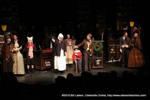 A Christmas Carol now playing at the Roxy.