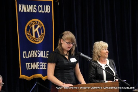 """Michaela Larson reads from her essay at the """"Interview A Veteran"""" Essay Contest Winners program Tuesday, November 8th 2011."""
