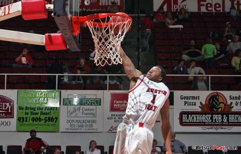 Austin Peay Governors point guard Jerome Clyburn named OVC co-Newcomer of the Week. (Courtesy: Keith Dorris/Dorris Photography)