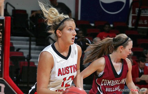 Senior Whitney Hanley led the Lady Govs scored 25 points in the Lady Govs loss at Cal Poly, Saturday. Austin Peay Basketball. (Courtesy: Austin Peay Sports Information)