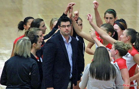 Austin Peay Volleyball. (Courtesy: Austin Peay Sports Information)